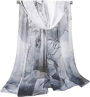 أوشحة نيكان للنساء خفيفة الوزن طباعة الأزهار وشاح شال أزياء الأوشحة واقية من الشمس.