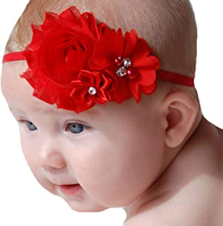 Lebo Baby Girl Red Headbands with Bows Christmas Ornaments