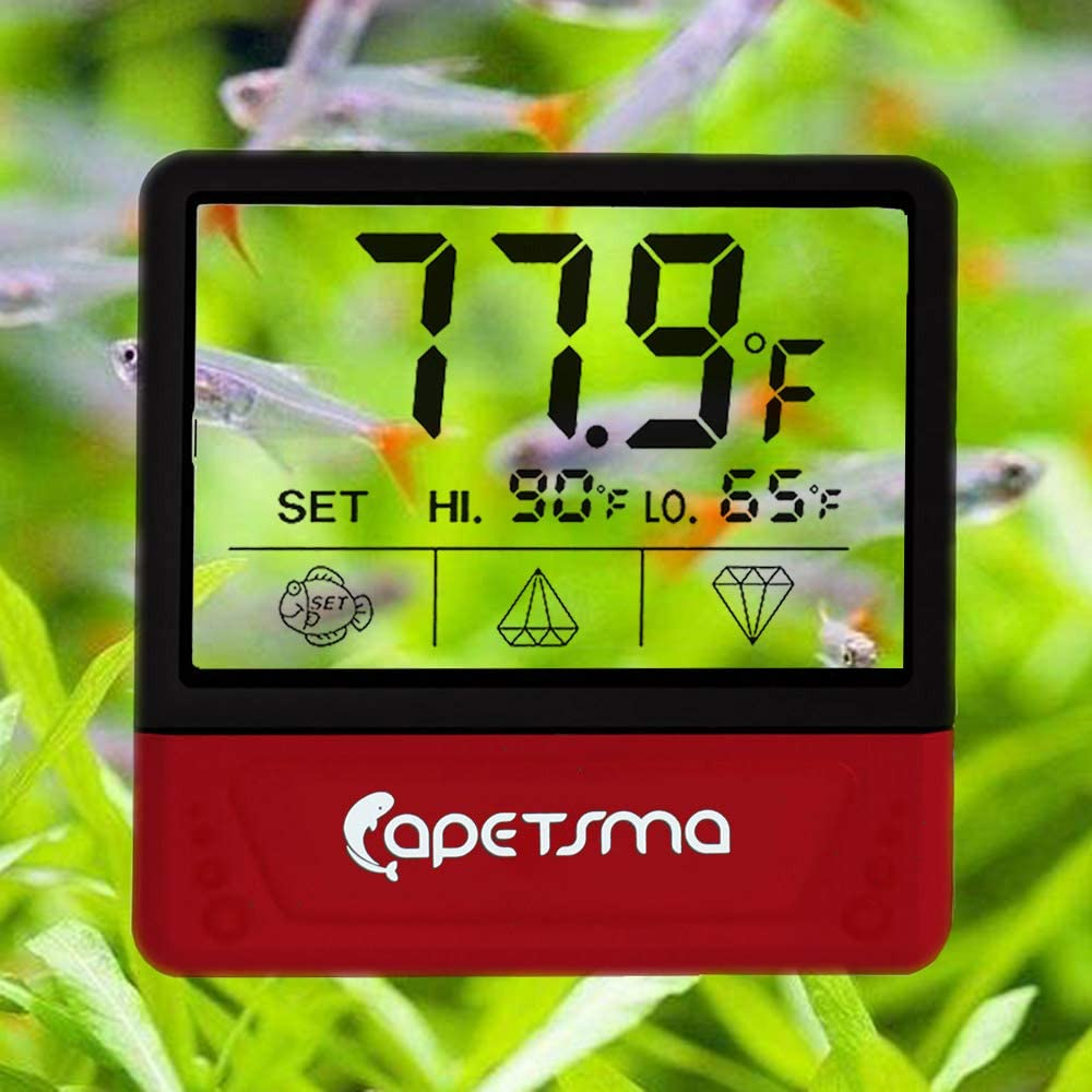capetsma Touch Screen Fish Tank Thermometer