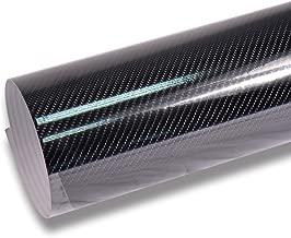 TECKWRAP High Gloss 4D Black Carbon Fiber Vinyl Wrap Film Sheet for Car DIY Interior Decoration 1ft x 5ft