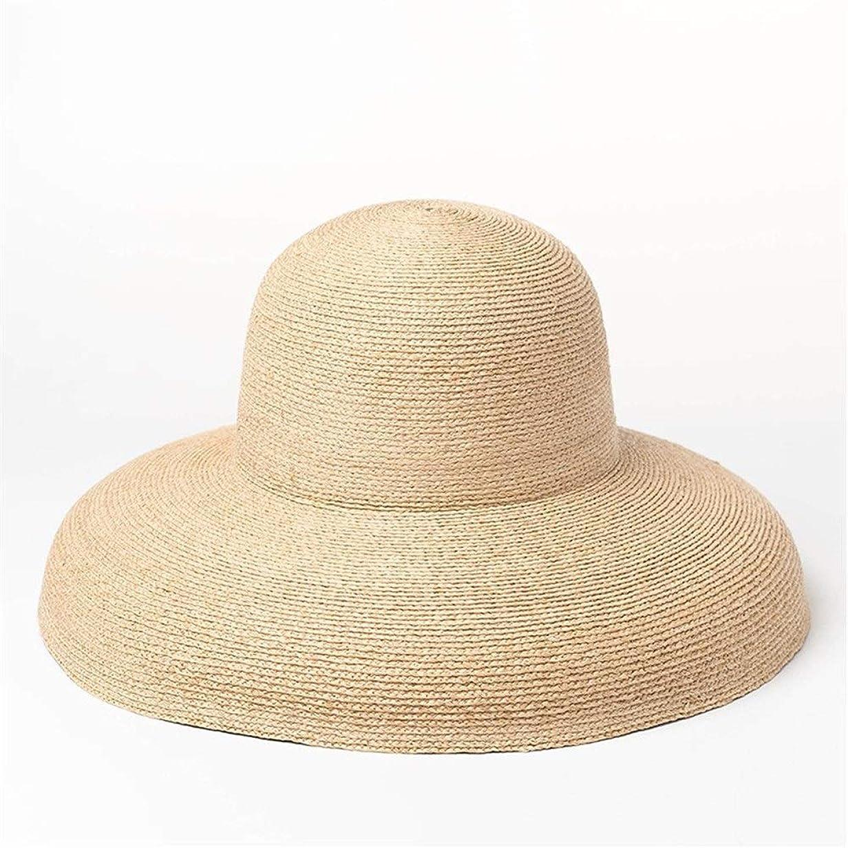 軍艦バックグラウンドじゃないヴィンテージドーム大型スリムラフィット帽子トップステージショー屋外日焼け止めラフィット帽子