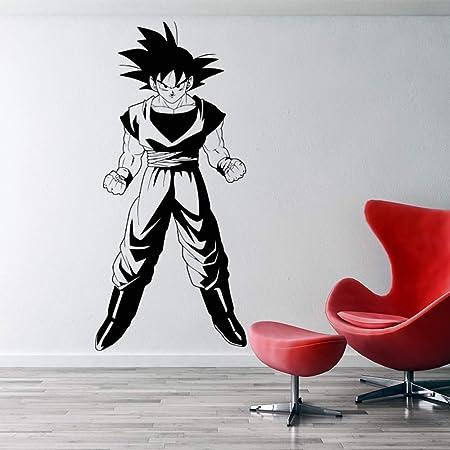woyaofal Dragonball Z Inspirado Goku 3D Etiqueta de la Pared Vinilo película Animada Dibujos Animados decoración del hogar DIY Pared calcomanía para ...