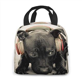Sac à lunch - Sac à bento Oxford pour écouteurs pour chiens pour femmes, hommes et enfants, support de déjeuner pour le tr...