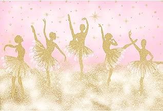 DORCEV 7x5ft Pink Photograohy Backdrop Ballet Shiny Stars Birthday Theme Party Wedding Background Kids Children Adult Lover Photo Studio Props