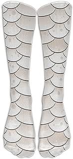 YUAN TING Nude Snake Skin Texture Classic Long Socks Women & Men Warmer High Socks For Sports Gym Running Hiking Travel Home Stockings