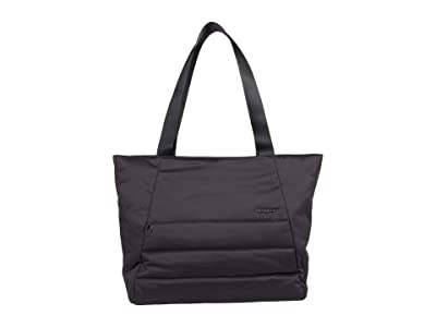 Hedgren Kyela 3 Compartment Puffer Tote (Black) Bags