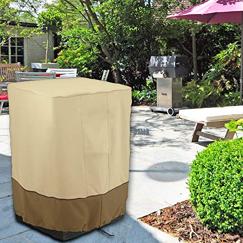 harupink Garden Furniture Covers Waterproof Fire Column Cover Windproof and Anti-UV Square Air Conditioner Cover Outdoor Heater Dust Cover for Patio Garden Outdoor 53 * 53 * 89cm