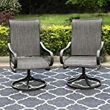 PHI VILLA Patio Swivel Dining Chairs Set of 2 Outdoor...