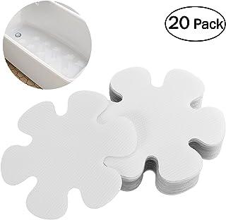 OUNONA 2pcs Adhesivos para bañera Antideslizante Pegatinas Ducha Bañera Etiqueta PEVA Seguridad Baño Ducha Huellas 10 CM (Transparente)
