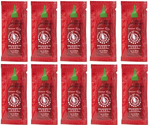20x / 50x /100x Sriracha Chilisauce a 8ml super scharfe chillisoße hot spicy FLYING GOOSE chilli sauce (50)
