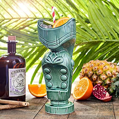 Mund Tiki Bechern Klauenhammer/Latthammer/600ml–Keramik Hawaiian Cocktail Becher