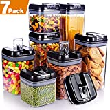 Senbowe [7-Piece] Air-Tight Food Storage Container Set with Durable Plastic,BPA Free,Clear...