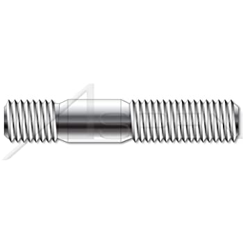 100 pk. M10-1.5 x 47 mm Plain Steel Double End Threaded Studs