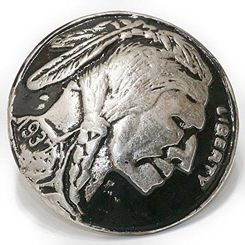 コンチョ インディアンフェイス コインコンチョ ネイティブ コイン インディアン コンチョシルバー925