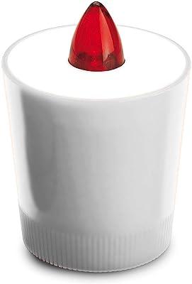 Velamp Bougie votive LED avec piles incluses. 30 jours de lumière IL01W Blanc