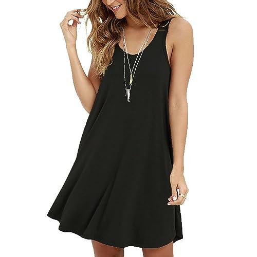 86836036f546 MOLERANI Women s Casual Swing Simple T-Shirt Loose Dress