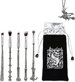 Aook Wizard Wand Potter Magic Makeup Brush, 5 Piece Foundation Brush Mix Blush Concealer Eyebrow Powder Makeup Brush Porter