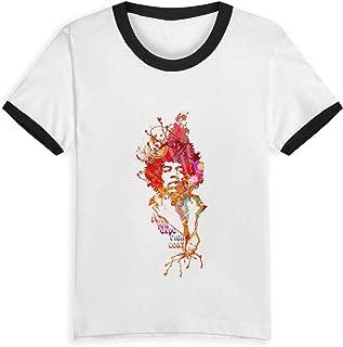 100% Cotton Boy Tshirts Jimi Hendrix Patchwork O-Neck Contrast Tee