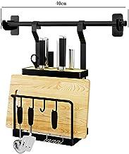 Tableware Storage, Drain Rack/Drain Rack Cutting Board Rack Knife Holder Wall-Mounted Kitchen Storage Rack Length 40cm