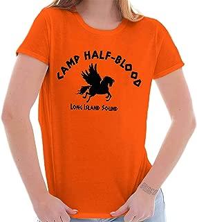 Brisco Brands Camp Half Blood Greek Mythology Movie Gym Ladies T Shirt