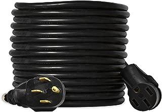 Ceptics NEMA 14-50 Plug to NEMA 14-50 Rec Extension Power Cord, For Electric Car ChargingRV, Motor Home,Generator 6/3 + 8/1 AWG, 125/250V (50 Feet) 50A, Heavy Duty - Industrial Grade, UL Listed