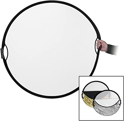 60cm 5-in-1 Collapsible Multi-Disc Light Reflector with Bag GoEoo 24-inch Translucent White Silver Gold and Black