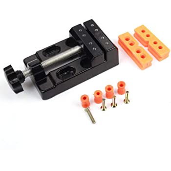 Z-COLOR Mini Flat Clamp Table Jaw Bench Clamp Mini Drill Press Vice Opening Parallel Table Vise DIY Sculpture Craft Carving Tool