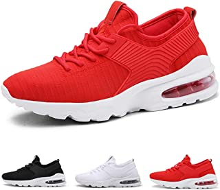 ea7add6fa55e20 Lightweight Walking Athletic Shoes Breathable Mesh Sneakers Casual Running  Shoes Air Cushion Lace-up Trainers