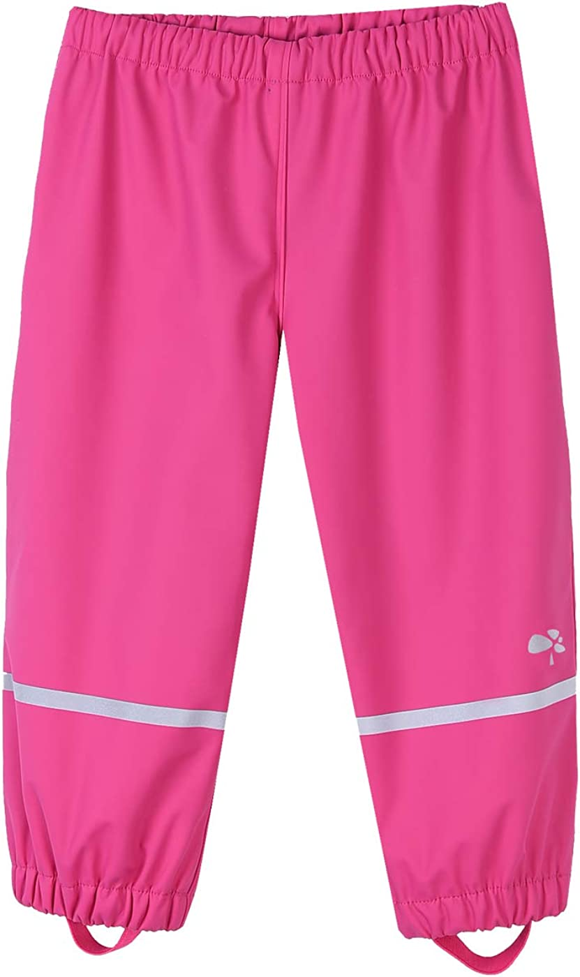 Hiheart Girls Boys Cotton OFFicial mail order Lined Max 48% OFF Waterproof Reflective Rain Pants