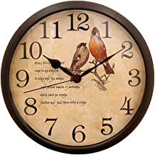 Homes r us Wall Clock, Brown - 12 inches
