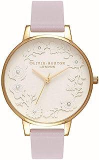 Olivia Burton Womens Quartz Watch, Analog Display and Leather Strap OB16AR02