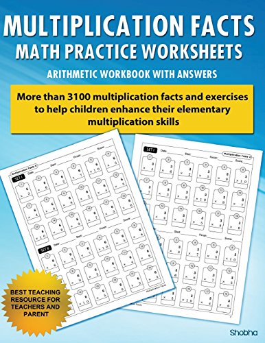 Multiplication Facts Math Worksheet Practice Arithmetic Workbook With Answers: Daily Practice guide for elementary students (Long Division Printable Worksheets For 5th Graders)
