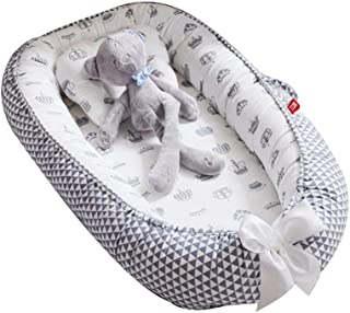 Baby Lounger Nest,Foonee Portable Crib and Bassinet Perfect for Co Sleeping,Super Soft and Breathable Newborn Lounger Cushion Suitable from 0-36 Months - Detachable & Machine Washable