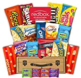 Mr. Snackbox Redbox Movie Night Crunch Case Care Package (15 Count) Variety Snack Gift Box – College Students, Corporate Gifts, Finals – Popcorn, Candy, Cookies, M&M's, Skittles & More