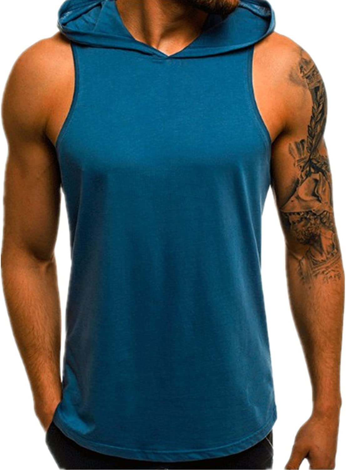Men's Athletic Sleeveless Japan Maker New Lowest price challenge Hoodie Tank Workout Run Quick Dry Tops