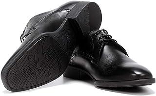 Fluchos | Vestir de Hombre | Luke F1056 Habana Negro Zapato de Vestir | Vestir de Piel | Cierre con Cordones | Piso TR