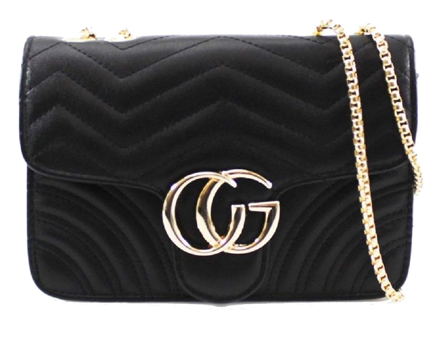 gucci handbag amazon co ukquilted faux leather chevron zig zag shoulder clutch bag evening cross body with gold chain strap