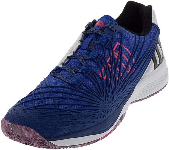 Wilson Men's KAOS 2.0 SFT Tennis chaussures (Dazzling bleu blanc Neon rouge, 12 M US)