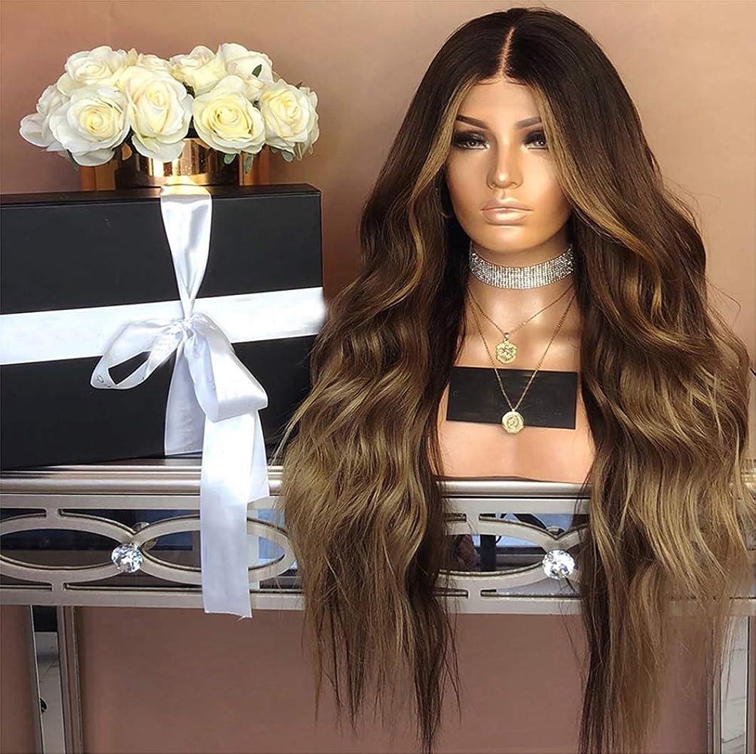 定義する自然与えるかつら女性セクシーなフル巻き毛のかつらナチュラルカラーデイリーマッチ65-70cm