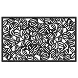Calloway Mills AZ103751830 Lilac Vine Rubber Doormat, 18' x 30', Black