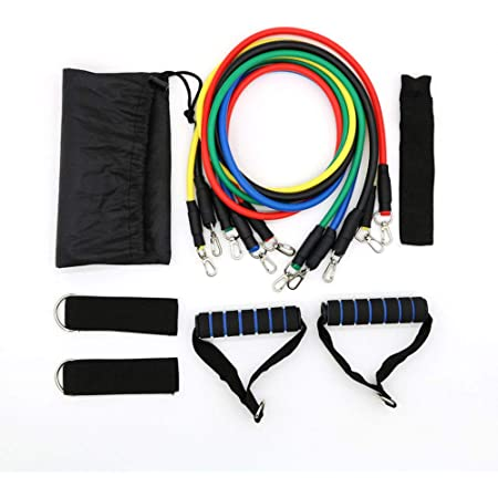 Door Anchor Resistance Bands 11 Piece Set with Handles Fitness Tubes Strength