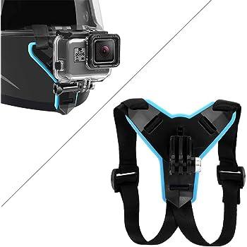 Casco universal soporte de adaptador de montaje cámara Compatible con GoPro Montada