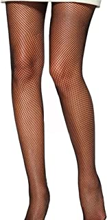 Womens Deluxe Fishnet Black Net Tights/Fish Fence Net Elasticated Pantyhose