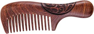 HEALLILY Wooden Hair Comb Scalp Massage Comb Anti-static Hair Care Massage Hair Comb Good for Scalp Meridian Health Massage