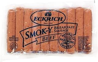 Eckrich Beef Smokey Sausage Link, 16.6 Ounce -- 10 per case.