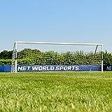 FORZA Alu60 Soccer Goal (12ft x 4ft) (Single or Pair) – Super Strong Aluminum Soccer Goal Perfect for Mini Soccer [Net World Sports] (Pair of Goals)