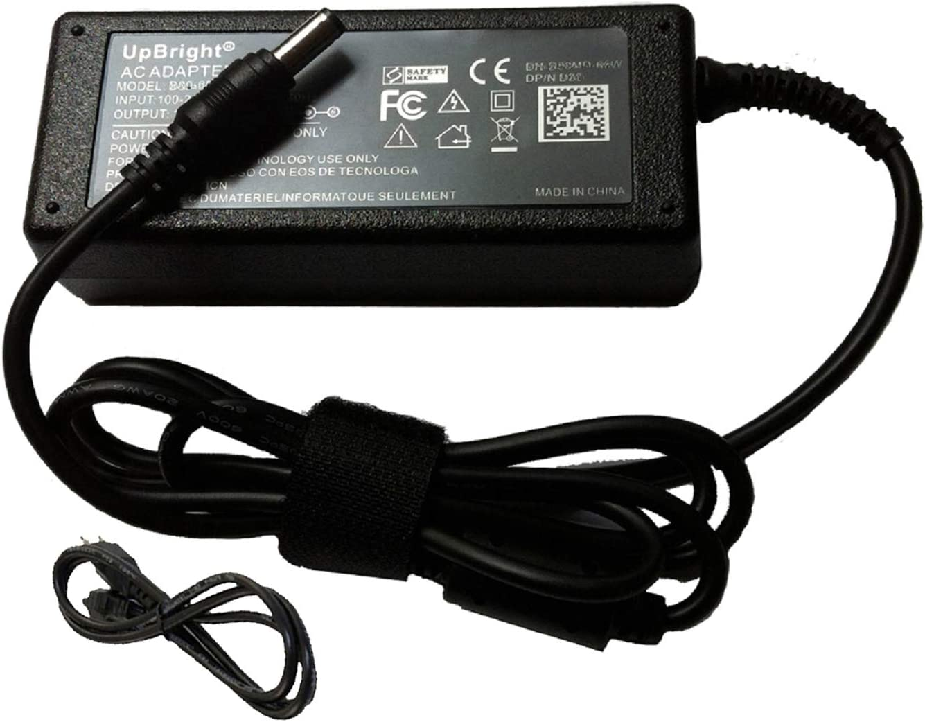 UpBright New 19V AC/DC Adapter Replacement for LG 22MP55HQ 22MP55HQ-T 22MP55HQ-P 22MP56HQ 22MP56HQ-P 22MP65HQ 22MP65HQ-P 23MP55HQ 23MP55HQ-P AH-IPS LED Monitor 19VDC Power Supply Cord Charger PSU