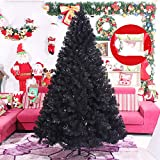 Xiaotian Paquete Negro árbol de Navidad 180cm Negro de Navidad árbol de Navidad decoración del árbol,120cm
