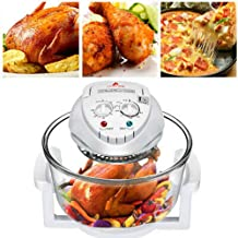 12L Convection Roaster Air Fryer Oven Turbo Electric Cooker Recipe 360° Heating,Infrared Convection, Halogen Oven Countert...