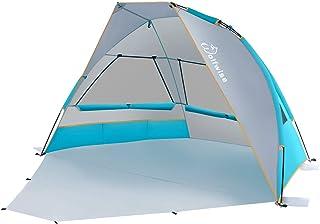 WolfWise Carpa de Sombra para Playa Plegable Ligero UPF 50+